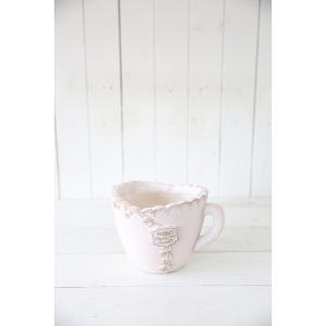 メルシーローズブーケカップ(Sサイズ)ホワイト☆オシャレなグラスファイバー製の植木鉢♪軽くて持ち運びも便利!|honeymint