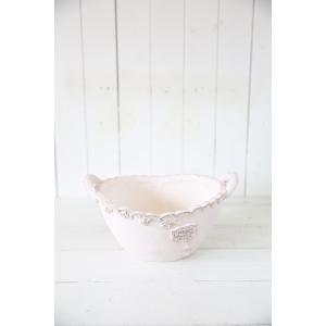 メルシーローズブーケバスケ ホワイト☆オシャレなグラスファイバー製の植木鉢♪軽くて持ち運びも便利!|honeymint