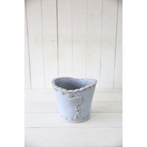 メルシーローズブーケサークル(Sサイズ)ブルー☆オシャレなグラスファイバー製の植木鉢♪軽くて持ち運びも便利!|honeymint