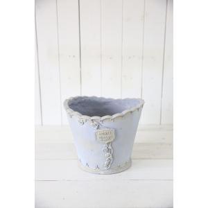 メルシーローズブーケサークル(Mサイズ)ブルー☆オシャレなグラスファイバー製の植木鉢♪軽くて持ち運びも便利!|honeymint