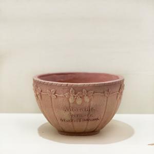 植木鉢 グラスファイバー製 おしゃれ フレーズラウンド(Sサイズ)ブラウン|honeymint