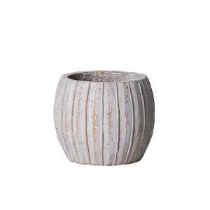 植木鉢 アンティーク風 シンプル プレゼント リーニュ・ボールポット(Sサイズ)ブラウン|honeymint