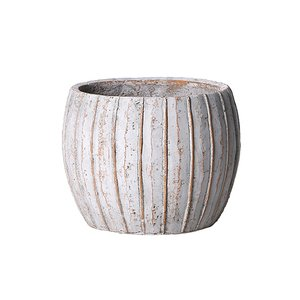 植木鉢 アンティーク風 シンプル プレゼント リーニュ・ボールポット(Mサイズ)ブラウン|honeymint