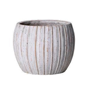 植木鉢 アンティーク風 シンプル プレゼント リーニュ・ボールポット(Lサイズ)ブラウン|honeymint