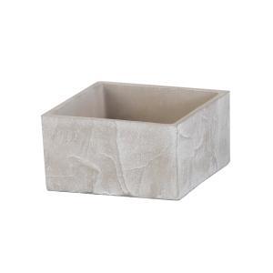 植木鉢 アンティーク風 シンプル 上品 プレゼント クーシュ・スクエアポット ホワイト|honeymint