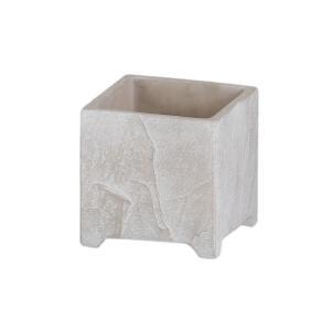 植木鉢 アンティーク風 シンプル 上品 プレゼント クーシュ・フットポット(Sサイズ)ホワイト|honeymint