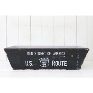 木製 小物入れ おしゃれ ジャンクルートワイドボックス(Mサイズ)ブラック|honeymint