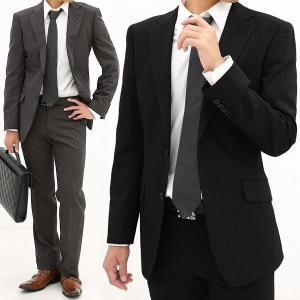 メンズ スーツ おしゃれ ビジネススーツ ジャケット スラックス フォーマル 結婚式 入学 社会人 メンズスーツ アジャスター付き 2つボタン シングル ローライズ|honeyondays