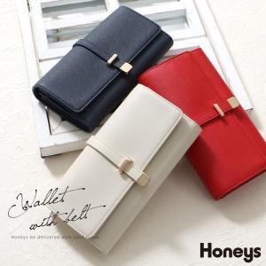 上品なベルトデザイン  細幅のベルトデザインを配した大人の雰囲気漂う長財布。 仕切り付きで整理しやす...