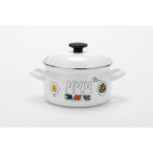 【アウトレット】miffy ミッフィー 18cm両手鍋 ポリ蓋付|honeyware