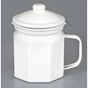 【安心のメーカー直販】【生産終了の為在庫限りです。】オイルポット 800ml 富士ホーロー 活性炭カートリッジ付 訳あり品|honeyware