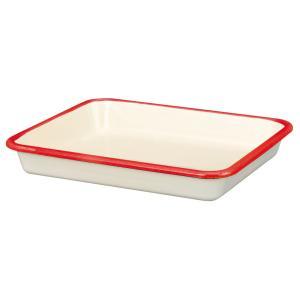 【安心のメーカー直販】バット 富士ホーロー ハニーウェア ホーローバットL  (18取)レッド 料理 揚げ物 下ごしらえ ホーロー雑貨 シンプル|honeyware
