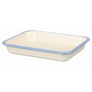 【安心のメーカー直販】バット 富士ホーロー ハニーウェア ホーローバットL  (18取)ホワイト 料理 揚げ物 下ごしらえ キッチン雑貨 シンプル|honeyware