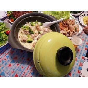 カラフル 土鍋風 カラド 24cm IH対応土鍋  送料無料 スノコなし ホーロー 琺瑯|honeyware
