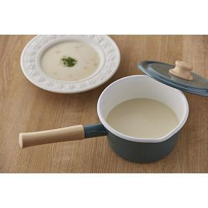 ホーロー ハニーウェア 送料無料 琺瑯 ほうろう 片手鍋 富士ホーロー 16cm  ミルクパン IH対応 シンプル コットンシリーズ 安心のメーカー直販|honeyware