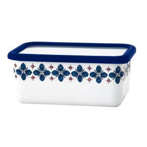 ホーロー 琺瑯 ほうろう 富士ホーロー キッチン雑貨 Cukka Series クッカシリーズ 深型角容器M 保存容器 北欧 オーブン使用可能 安心のメーカー直販|honeyware