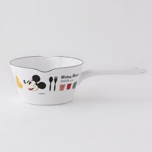 【安心のメーカー直販】Disney ディズニー14cmミルクパン 富士ホーロー ミルクパン ホワイト 0.8L 調理器具 片手鍋 ホーロー鍋 disney_y|honeyware