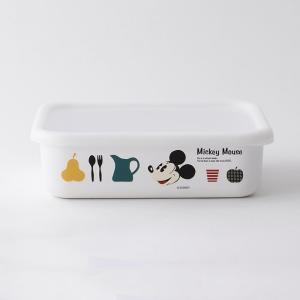 【安心のメーカー直販】Disney 富士ホーロー  ディズニー浅型角容器L ハニーウェア ホーロー雑貨 琺瑯 容器 disney_y|honeyware