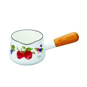 【安心のメーカー直販】片手鍋 ミルクパン おしゃれ インスタ映え フルーツ柄 富士ホーロー ハニーウェア 12CMミルクパン ボタニカル|honeyware
