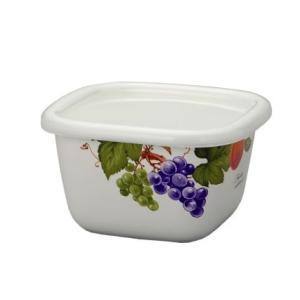 【安心のメーカー直販】富士ホーロー ハニーウェア ホーローパックA型小 フルーツ柄 おしゃれ かわいい ボタニカル|honeyware