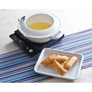 クリスティーナ 24cm 天ぷら鍋(温度計付)|honeyware
