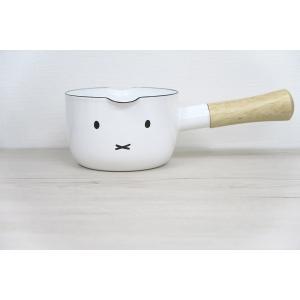 片手鍋 富士ホーロー12cm ミルクパン 片手鍋 ホーロー鍋 直火 シンプル 白 ミッフィー おかお 安心のメーカー直販|honeyware