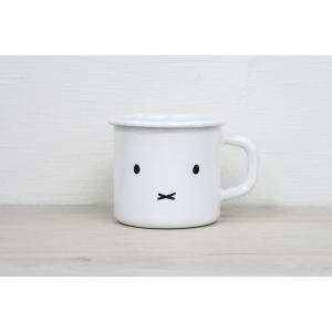 ホーロー 琺瑯 ほうろう マグカップ 保温性抜群 富士ホーロー キッチン雑貨 ミッフィーフェイス 7cmマグ1 キッチン用品 安心のメーカー直販|honeyware