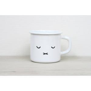 ホーロー 琺瑯 ほうろう マグカップ 保温性抜群 富士ホーロー キッチン雑貨 ミッフィーフェイス 7cmマグ2 キッチン用品 安心のメーカー直販|honeyware