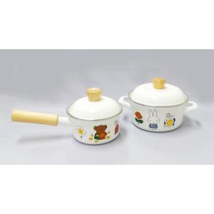 ミッフィー 12cmミニ片手鍋・15cmミニ両手鍋セット(PE蓋付)|honeyware
