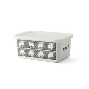 【安心のメーカー直販】保存容器 キッチン用品 ストッカー 食材 調味料 ホーロー容器 グッズ 富士ホーロー ハニーウェア キッチン雑貨 モズ moz 深型角容器M|honeyware