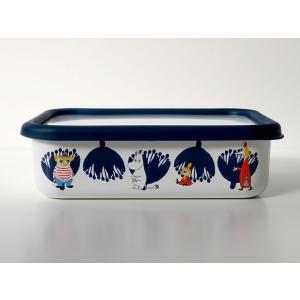 ムーミン&フラワー浅型角容器L|honeyware