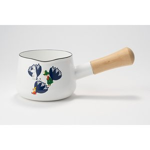ホーロー 琺瑯 ほうろう 片手鍋 富士ホーロー ハニーウェア  ムーミン 12cm ミルクパン 片手鍋 ホーロー鍋 直火 シンプル 白 安心のメーカー直販|honeyware