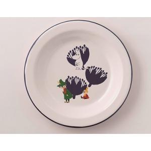【安心のメーカー直販です。】富士ホーロー ムーミン 18cmプレート ホワイト ハニーウェア ホーロー 皿 琺瑯 丸皿|honeyware