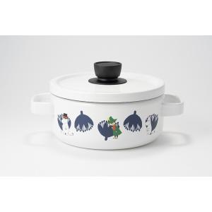ホーロー 琺瑯 ほうろう 送料無料 両手鍋 富士ホーロー ハニーウェア ムーミン 20cmキャセロール調理器具 両手鍋 白 安心のメーカー直販|honeyware