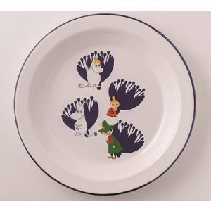 【安心のメーカー直販です。】富士ホーロー ムーミン 23cmプレート ホワイト ハニーウェア ホーロー 皿 琺瑯 丸皿|honeyware