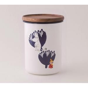 【安心のメーカー直販です。】MOOMIN 富士ホーロー ムーミン 9cmキャニスターL ホワイト ハニーウェア ホーロー キッチン用品 グッズ 収納|honeyware