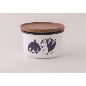 【安心のメーカー直販】MOOMIN 富士ホーロー ムーミン 9cmキャニスターS ホワイト ハニーウェア ホーロー キッチン用品 グッズ 収納|honeyware