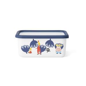 ムーミン&フラワー深型角容器M|honeyware
