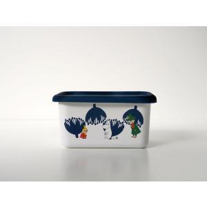 ムーミン&フラワー深型角容器S|honeyware