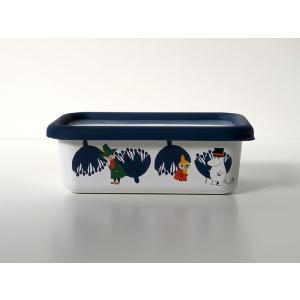 ムーミン&フラワー浅型角容器S|honeyware