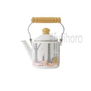 ホーロー ケトル 富士ホーロー ハニーウェア キッチン雑貨 ムーミンインザフォレスト 1.2Lケトル  雑貨 やかん 安心のメーカー直販|honeyware