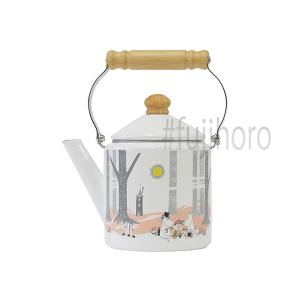 ホーロー 送料無料 ケトル 富士ホーロー ハニーウェア ムーミン ムーミンインザフォレスト 2.0Lケトル  IH対応 200V 雑貨 琺瑯 やかん 安心のメーカー直販|honeyware