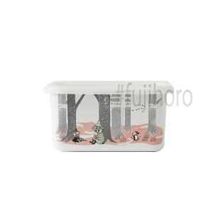 ホーロー 琺瑯 ほうろう 保存容器 キッチン用品 ホーロー容器 グッズ 富士ホーロー キッチン雑貨 ムーミンインザフォレスト深型角容器S 安心のメーカー直販|honeyware