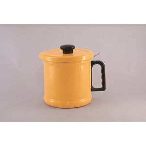 【安心のメーカー直販】送料無料 1.5リットル オイルポット (活性炭カートリッジ付き) ニューイエロー|honeyware