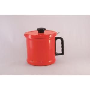 【安心のメーカー直販です。】送料無料 1.5リットル オイルポット (活性炭カートリッジ付き) レッド|honeyware