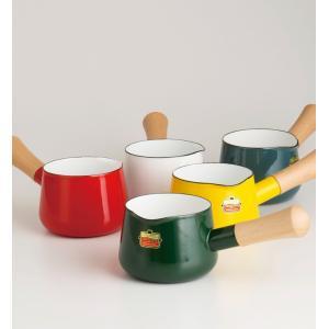 【安心のメーカー直販】片手鍋 富士ホーロー ハニーウェア  ソリッド 12cm ミルクパン 片手鍋 ホーロー鍋 直火 シンプル 白 赤 緑 青 灰色|honeyware