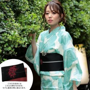 浴衣 レディース 3点セット (浴衣/帯/下駄) 白 桜 (ホワイト/桜)|hongkongmadam