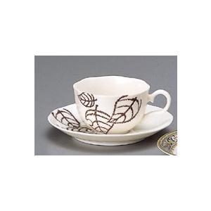 木の葉コーヒー碗皿1312円