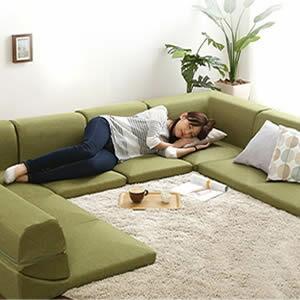 カバーリングコーナーローソファセット【Lantana-ランタナ-】(カバーリング コーナー ロー 2セット)【代引不可】 [03] honkeya