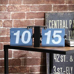 シンプル&レトロデザイン フリップクロック(置き・壁掛け兼用) パタパタ時計【Tinks-ティンクス-】【代引不可】 [03]|honkeya
